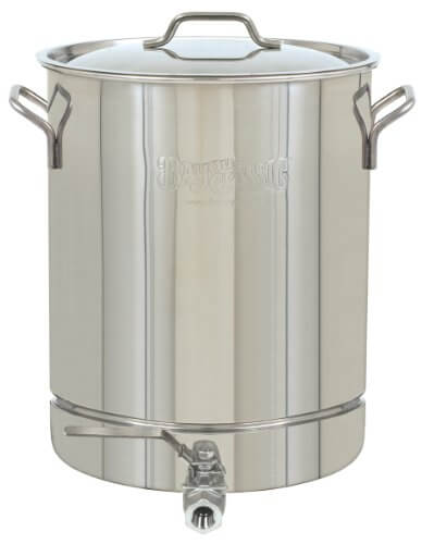 Bayou Classic 1040 Stainless 10-Gallon Stockpot with Spigot and Vented Lid