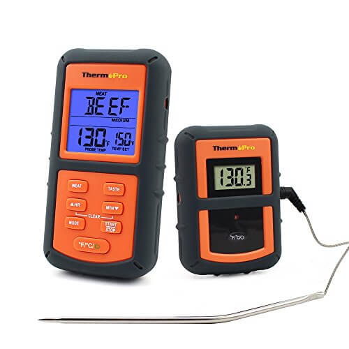 ThermoPro TP07 Remote Wireless Digital Kitchen Cooking Food Meat Thermometer with Timer for BBQ Smoker Grill Oven, 300 Feet Range