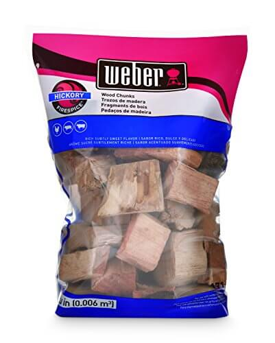 Weber-Stephen Products 17148 Hickory Wood Chunks, 4 lb