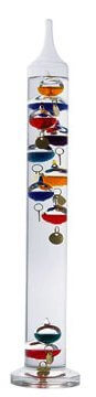 Ambient Weather WS-GA1141710 17 inch Galileo Thermometer with 10 Glass Balls and Gold Tags