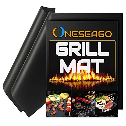 Best Quality BBQ Grill Mat Set of 2 – 100% Non stick BBQ Grill & Baking Mats -FDA-Approved, PFOA Free, Durable, Reusable and Easy to Clean- Safe, Works on Gas, Charcoal, Electric Grills