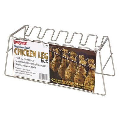 Bayou Classics 0770 Chicken Leg Stainless Steel Grilling Rack – 12 Leg Size