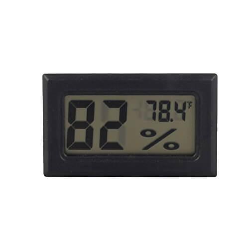 Qooltek Super Wireless Mini LCD Display Thermometer Electronic Temperature Hygrometer for Cars Incubators and Brooders Climb Pet (Fahrenheit)