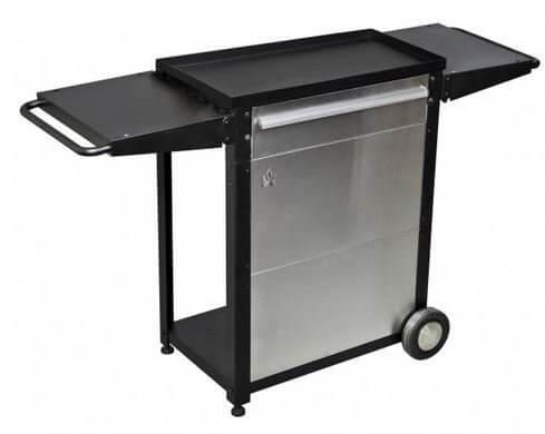 Camp Chef Patio Cart, BLACK/SILVER,