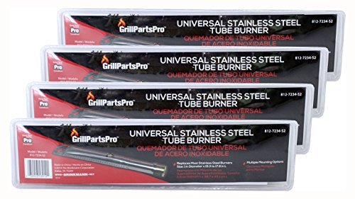 (Pack of 4) Brinkmann Universal Stainless Steel Replacement Straight Tube Burner (Adjustable), 1″ x 15.8″ to 17.3″