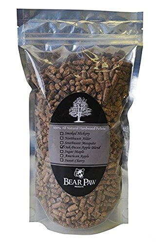 Bear Paw Products Premium Oak-Pecan-Apple Blend Smoker Pellets 1.5 Lb. Bag. Easy to Use With All Types and Brands of Outdoor Grills: Electric, Gas, Charcoal, or Smokers