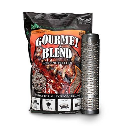 Green Mountain Grill Thin Blue Smoker Tube with 8lb bag of Smoker pellets – 6027