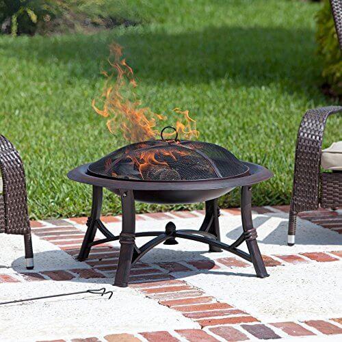 Fire Sense Augusta 30 in. Wood Burning Fire Pit