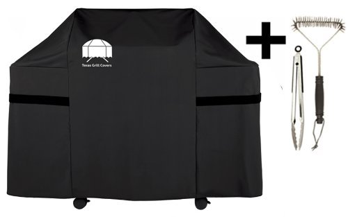 Texas Grill Covers Premium Cover for Weber Genesis S-310 Gas Grills Including Brush and Tongs