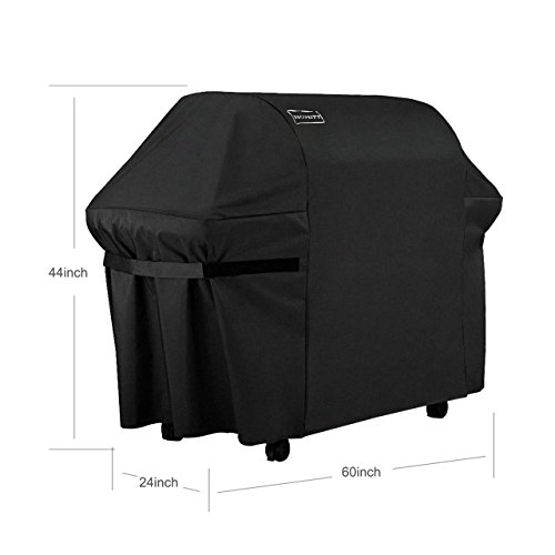 Homitt 7107 Grill Cover, 44in X 60in Waterproof 600D Heavy Duty BBQ Gas Grill Cover for Genesis E and S Series Gas Grills