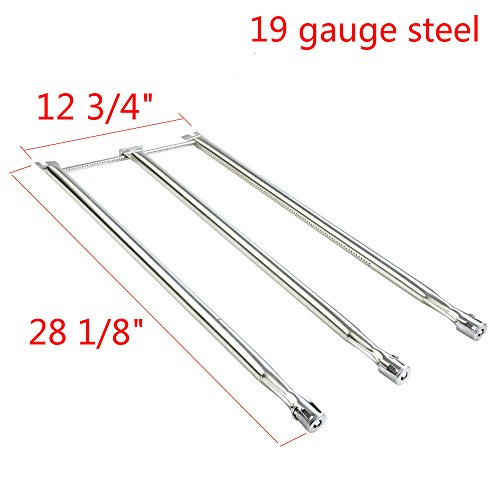 GASPRO GP-S508 3 Burner Tube Set Replacement for Weber Genesis Silver B and C, Genesis Gold B and C, Genesis Spirit 700 Gas Grill-19 Ga Stainless Steel