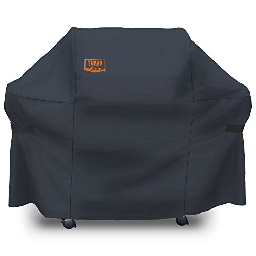 Yukon Glory 8264 Premium Grill Cover for Weber Genesis Gas Grills (Compared to the Weber 7107 Grill Cover), Black