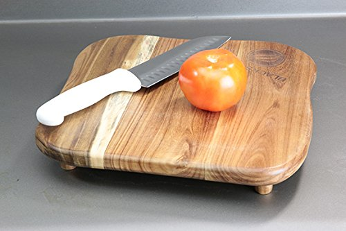 Blackstone Signature Accessories – Premium Quality Grill Griddle Cutting Board With Legs – Made from Koa Wood – Designed for Top of Griddle or Countertop – Use to Cut and Chop Vegetables or Meat