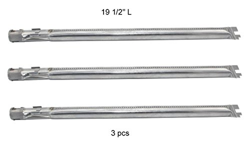 "(3-Pack) 19 1/2″ Stainless Steel Main Burner Tube for Weber Genesis 300 Series (2011-2016 Grill Models With ""Up Front"" Controls)"