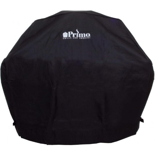 Primo 413 Grill Cover for Primo Oval Junior Grill in Cradle
