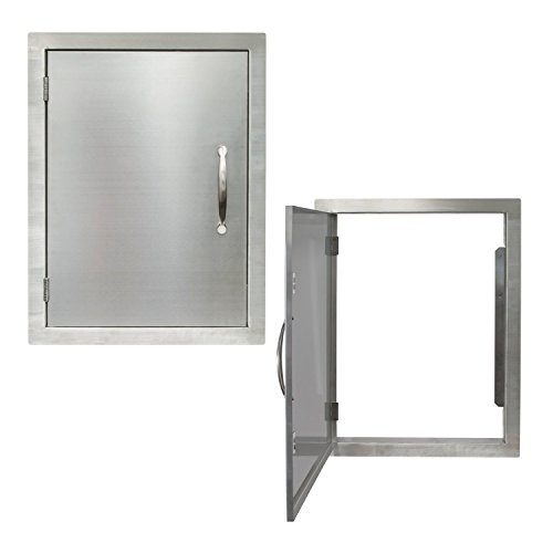 Houseables BBQ Access Door, Stainless Steel, Vertical, Single, 17 x 24