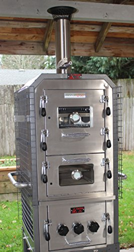 EcoQue Wood-Fired Pizza Oven & Smoker- GENERATION 2! OVEN Model for Built-In Ready Locations (No Cart)