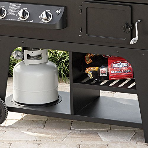Gas & Charcoal Hybrid Grill BBQ Cooking Cast Iron Stainless Steel Party Heavy Duty