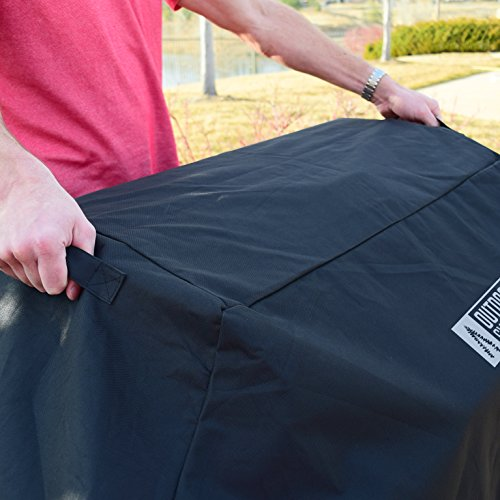 Heavy Duty Grill Cover by Outdoor Syndicate – Premium Waterproof 58 inch 600D Oxford PVC Coated – Black w/ Handles