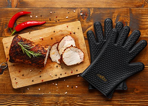 Barbecue Gloves & Pulled Pork Claws Set – Silicone Heat Resistant Grilling Accessories & Home Kitchen Tools For Your Indoor & Outdoor Cooking Needs – Use as BBQ Meat Turner or Oven Mitts