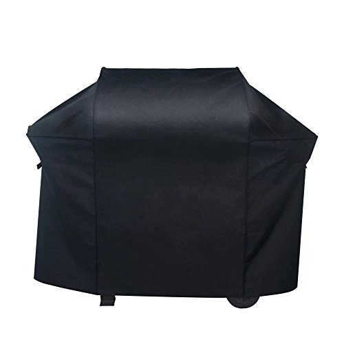 Nextcover Premium Gas Grill Cover, 72 inch 600D Canvas Heavy Duty Waterproof Fade Resistant BBQ Grill Cover for Weber?Char Broil, Holland, Jenn Air, Brinkmann. – Black N21G807