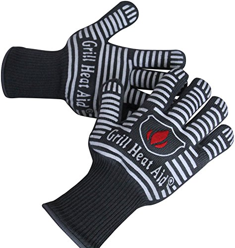 Extreme Heat Resistant Grill Gloves | Premium Insulated & Silicone Lined Aramid Fiber Mitts for Cooking, BBQ, Grilling, Frying & Baking – Professional Indoor Outdoor Kitchen & Oven Accessories