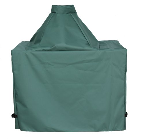"""Cowley Canyon Brand Large Ceramic Egg Type Kamado Compact Table Cover, 42""""L-27""""W-31""""H. Fits Large Big Green Egg, Kamado Joe Classic and others"""