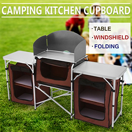 Orangea Camping Table Foldable Outdoor Cooking Table Portable Easy To