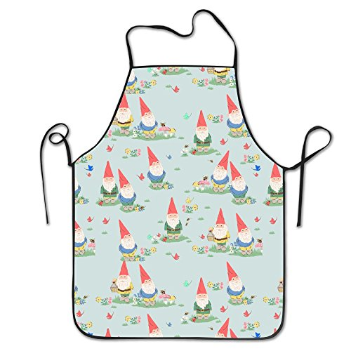 未标题-1 0004 图层-10cute Gnome Easy Care For Unisex Chef Aprons Waterproof Shrinkage Grill Apron