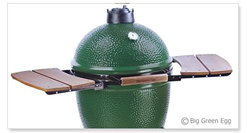 Big Green Egg Wooden Shelves EGG Mate for Medium, Large & XLarge Big Green Egg – EGG (2 shelves) Authentic Big Green Egg Grill & Smoker Accessories Are A Must For Big Green Egg Users – (Large)