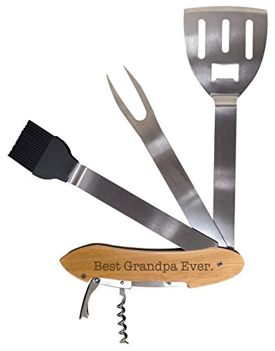 ThisWear Fathers Day Gift for Grandpa Best Grandpa Ever BBQ Grill Multi Tool Barbecue Spatula Grilling Accessories