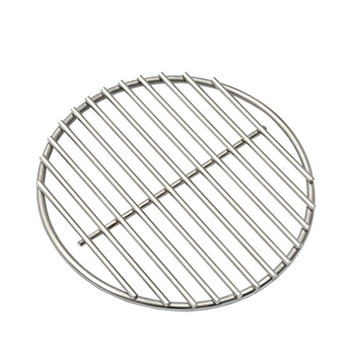 "BBQ High Heat Stainless Steel Charcoal Fire Grate Fits For Large Big Green Egg Fire Grate and Kamado Joe Grill Parts Charcoal Grate Replacement Accessories(9"")"