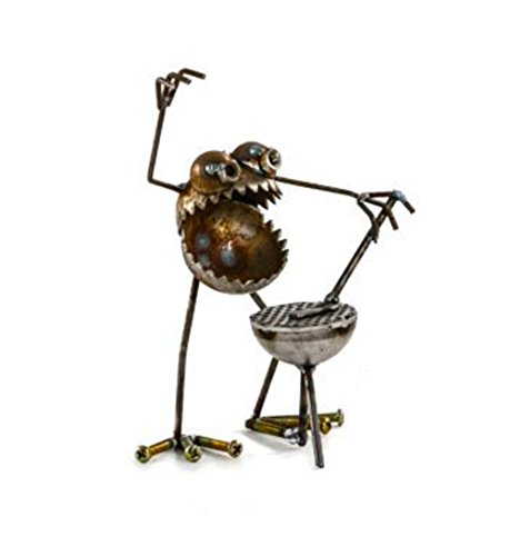 Sugarpost Mini Gnome Be Gone BBQ Griller Metal Art Sculpture