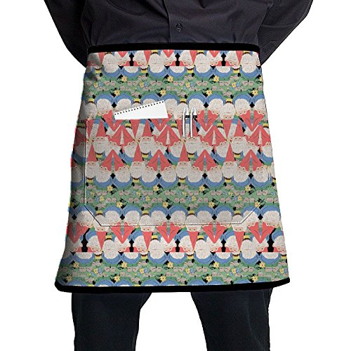 Cute Gnome Waist Apron Lightweight Kitchen Apron Towel Prepare For Family Man One Size Barbecue Polyester