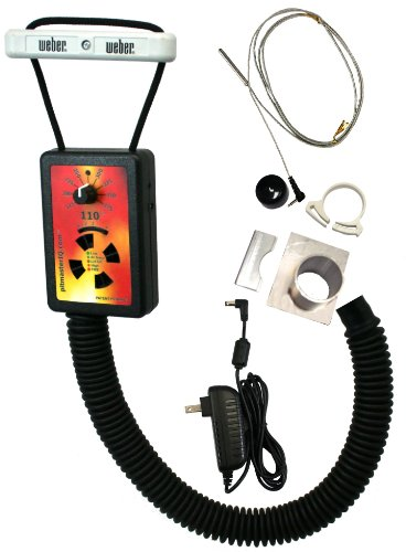 IQ110 BBQ Temperature Regulator Kit with Small Adjustable Kamado Pit Adapter for Big Green Egg (Small, Mini), Char-Griller Akorn, Kamado Joe Jr., and Many Other Small Kamado Smokers