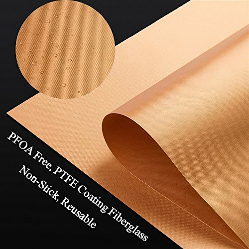 Extra Large Copper Grill Mats – 3 Sets 23.5×15.8 Inches – Premium Copper Grill & Bake Mats – Extra Large, Non-Stick, Reusable, and Durable BBQ Grill Mats,Including 1 FREE BBQ Brush-7 Year Warranty
