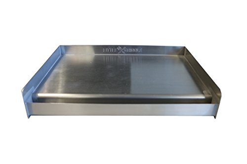 Little Griddle SQ180 Universal Griddle for BBQ Grills, Stainless (Formerly the Sizzle-Q)