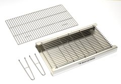 Black Knight 501 Brick Built in Stainless Steel BBQ Grill Kit with Warming Rack