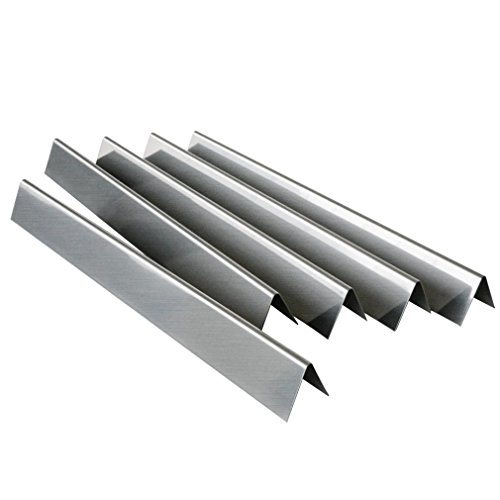 "5 Pack Gas Grill Replacement Stainless Steel Flavorizer Bars/Heat Plate for Weber 7537, Genesis Silver B and C, Spirit 700, Gold B and C, and Weber 900, 22.5"" x 2.25"" x 2.375"""