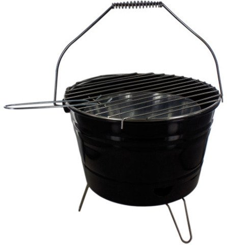 Bar B Q Time Barbecue Bucket with Handle – Pack of 1