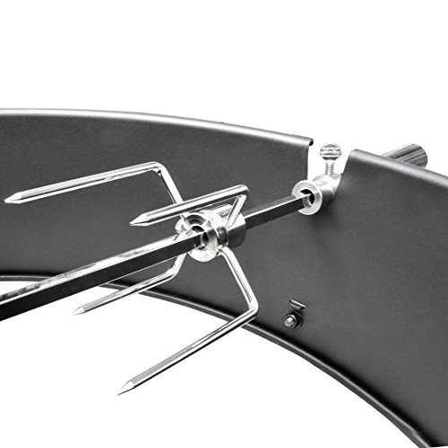 onlyfire 22-1/2-Inch Charcoal Kettle Rotisserie Ring Kit for Weber Char Broil Masterbuilt and Other Models