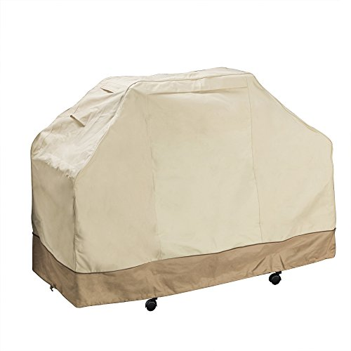 Villacera 83-DT5780 BBQ Grill Cover, Beige and Brown, Large