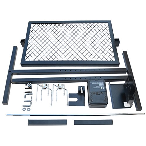 onlyfire Adjustable Outdoor Camping Rotisserie Grill System and Spit Kit with Portable DC 3V Motor and 29 Inch Hexagon Spit Rod
