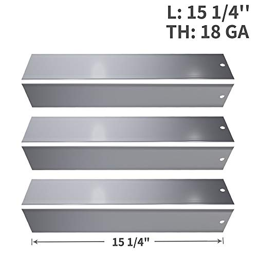 SHINESTAR 15.25 inch Stainless Steel Flavorizer Bar Replacement for Weber Spirit 200/E-210(2013 & Newer with up Front Controls Panels), 3 Pack Grill Heat Deflector Plate Shield Burner Cover(SS-WB005)