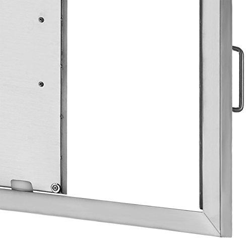 BestEquip Double BBQ Island 304 Stainless Door Double Access BBQ Door 31X24inch Double Door Flush Mount (31X24)