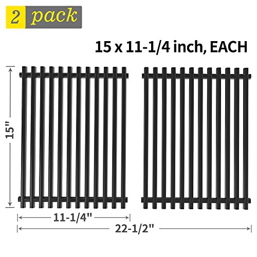SHINESTAR 15 inch Grill Grate Replacement for Weber Genesis Silver A, Spirit 500, Spirit S-200, E-210NG and Others, Porcelain Steel BBQ Cooking Grate Barbecue Grill Grid Replacement Parts(SS-KW010)