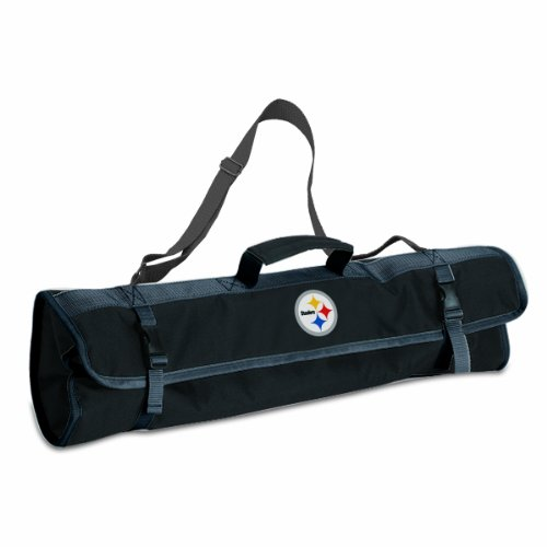 PICNIC TIME NFL Pittsburgh Steelers 3-Piece BBQ Tool Tote