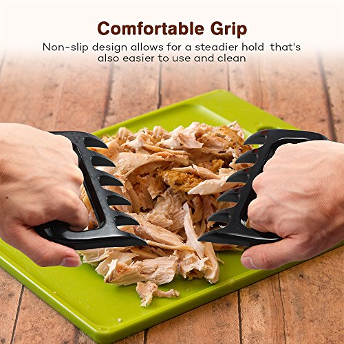 BBQ Gloves Heat Resistant, TaoTronics Meat Shredder Silicone and BBQ Brush, Grill Accessories, Perfect for Shredding Smoked Meat & Pulled Pork, Dishwasher Safe, FDA Approved