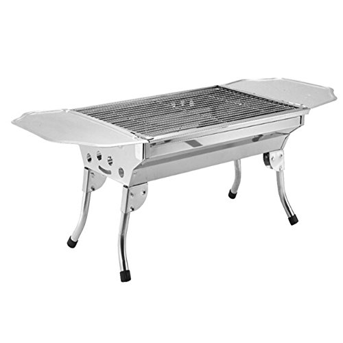 Looimage Stainless Steel Stove Outdoor Portable Charcoal Barbecue Pits BBQ Grill
