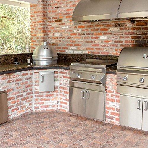 Blaze Freestanding Cast Aluminum Kamado Grill with Shelves (BLZ-20-KAMADO-BLZ-20KMDO2-CART-BLZ-KMDO-SDSH)